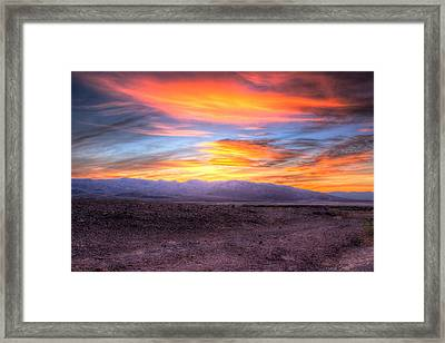 Death Valley Sunset Framed Print by Heidi Smith