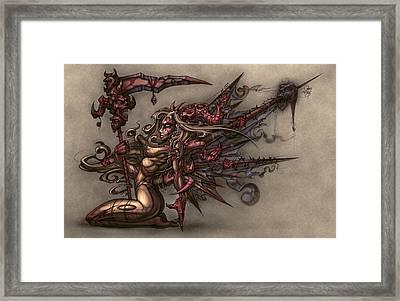 Death's Angel Framed Print by David Bollt