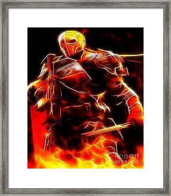 Deathstroke The Terminator Framed Print by Pamela Johnson