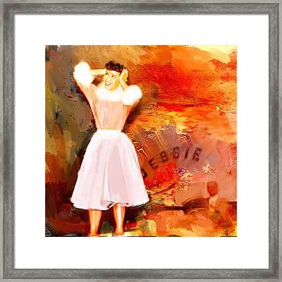 Debbie Reynolds Framed Print by Dale Stillman