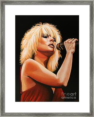 Deborah Harry Or Blondie 2 Framed Print by Paul Meijering