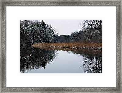 December Landscape Framed Print by Luke Moore