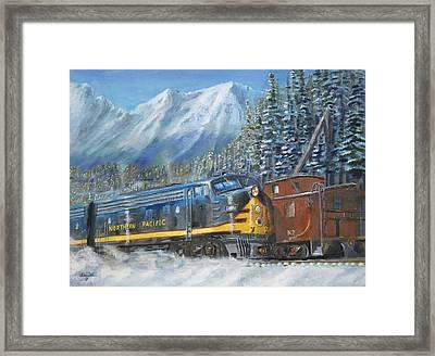 December On Stampede Pass Framed Print by Christopher Jenkins