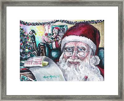 December Framed Print by Shana Rowe Jackson