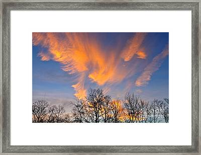 December Sunrise Framed Print by Jay Nodianos