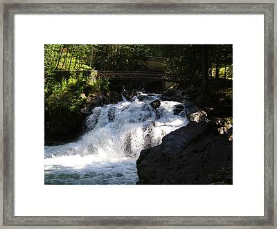 Deception Falls  Framed Print by Jeff Taylor