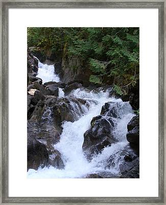 Deception Falls Upper Framed Print by Jeff Taylor