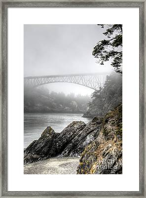 Deception Pass Bridge Framed Print by Sarah Schroder