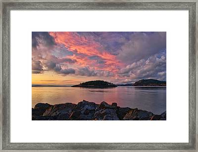 Deception Pass Sunset Framed Print by Dan Mihai
