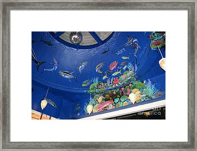Decks Mural 3 Framed Print by Carey Chen