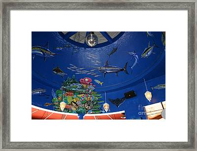 Decks Mural 4 Framed Print by Carey Chen