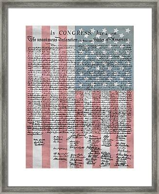 Declaration Of Independence Framed Print by Dan Sproul