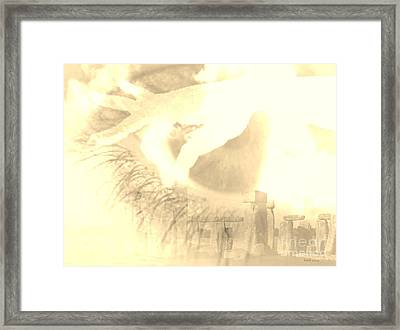 declassified photos - Stonehenge Framed Print by Elizabeth McTaggart