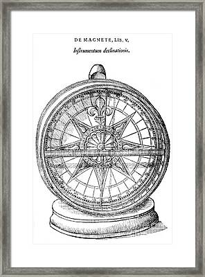 Declinometer, 17th Century Framed Print by Science Source