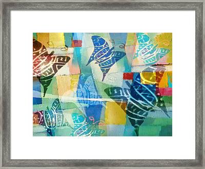 Deco Butterflies Framed Print by Lutz Baar