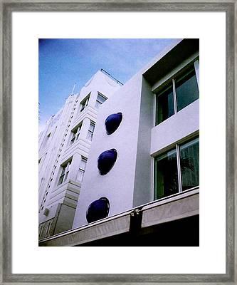 Deco Drive Polaroid Framed Print by Gary Dean Mercer Clark