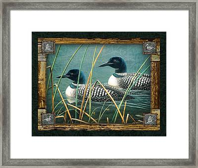 Deco Loons Framed Print by JQ Licensing