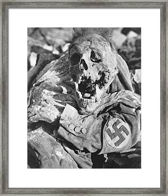 Decomposing Corpse Of Man With Swastika Framed Print by Everett