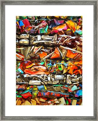 Deconstruction Framed Print by Lutz Baar