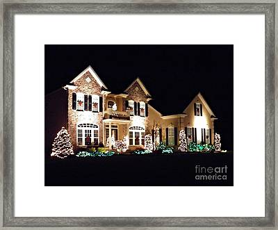Decorated For Christmas Framed Print by Sarah Loft