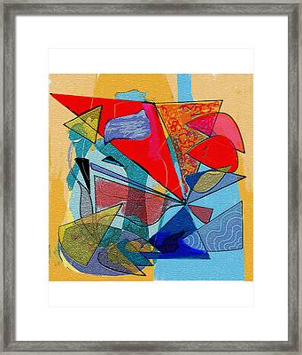 Decorative Interior Art Abstract Framed Print by Olga Sheyn