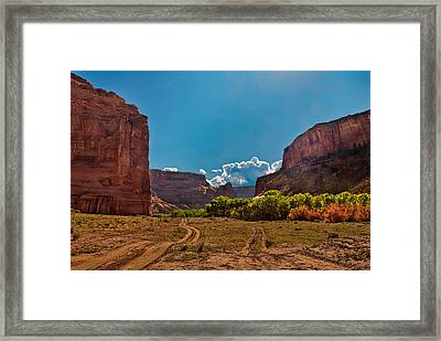 Deep In Canyon De Chelly Framed Print by Bob and Nadine Johnston