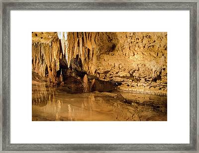 Deep In The Cave Framed Print by Jonah  Anderson