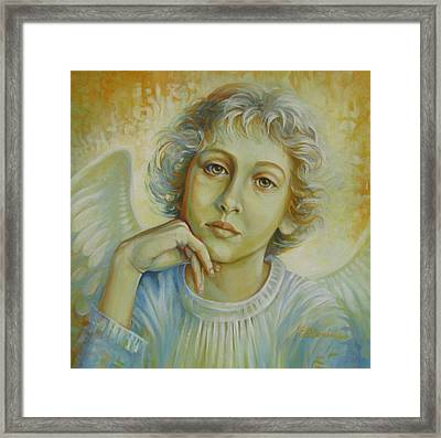 Deep In Thought Framed Print by Elena Oleniuc