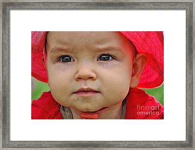 Deep In Thought Framed Print by Kaye Menner