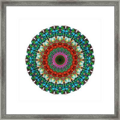 Deep Love - Mandala Art By Sharon Cummings Framed Print by Sharon Cummings