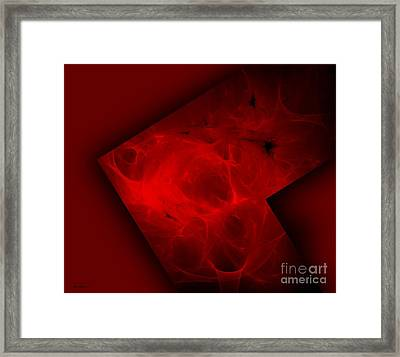 Deep Red Abstract Art  Framed Print by Mario Perez