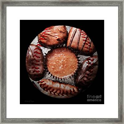 Deep Rich Chocolates Baseball Square Framed Print by Andee Design