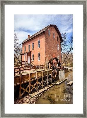 Deep River Grist Mill In Northwest Indiana Framed Print by Paul Velgos