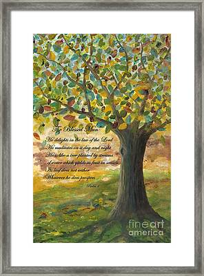 Deep Roots-with Scripture Framed Print by Mona Elliott