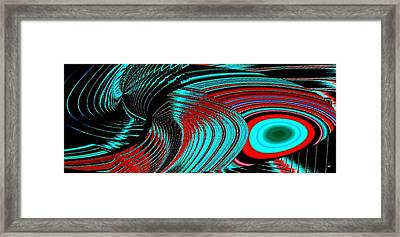 Deep Sea Abstract Framed Print by Will Borden