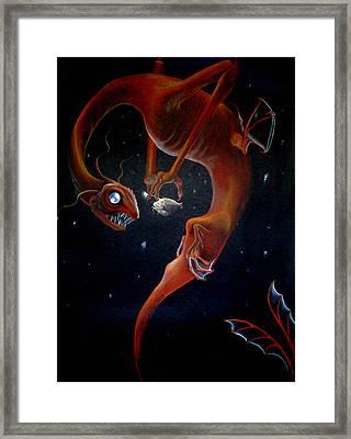 Deep Sea Dragon Framed Print by Carin Billings