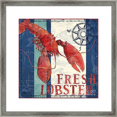 Deep Sea Lobster Framed Print by Paul Brent