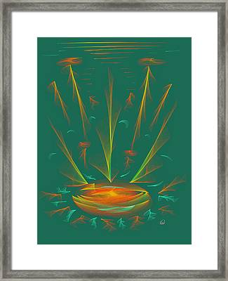 Deep Sea Wonder Framed Print by Angela A Stanton