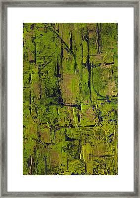 Deep South Summer Coming On - Panel II - The Green Framed Print by Sandra Gail Teichmann-Hillesheim