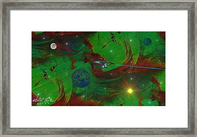 Deep Space / Star Trek Framed Print by Michael Rucker