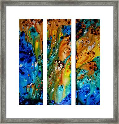Deep Visions - Abstract Modern Contemporary Art Painting Framed Print by Sharon Cummings