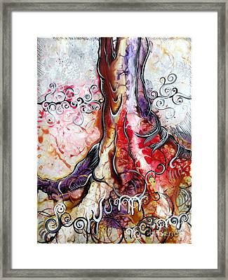 Deeply Rooted Iv Framed Print by Shadia Zayed