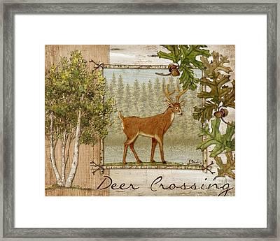 Deer Crossing Framed Print by Paul Brent