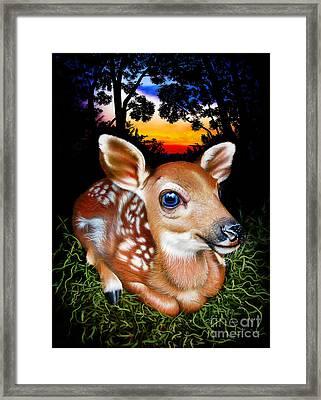 Deer Fawn Framed Print by Jurek Zamoyski