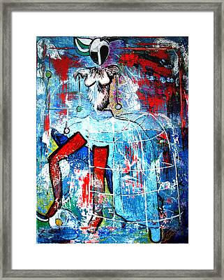 Deer Style Framed Print by Amy Sorrell