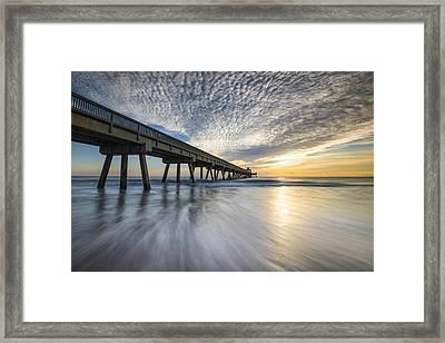 Deerfield Beach Pier Sunrise - Boca Raton Florida Framed Print by Dave Allen