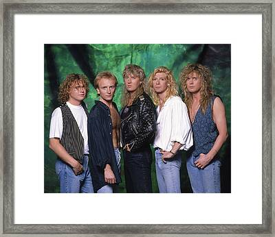 Def Leppard - 15 Months Of Rock 1987 Framed Print by Epic Rights