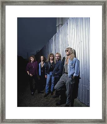 Def Leppard - Adrenalize Me 1992 Framed Print by Epic Rights