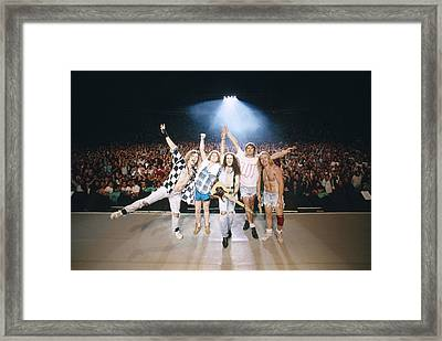 Def Leppard - Adrenalize Tour 1992 - On Stage Framed Print by Epic Rights