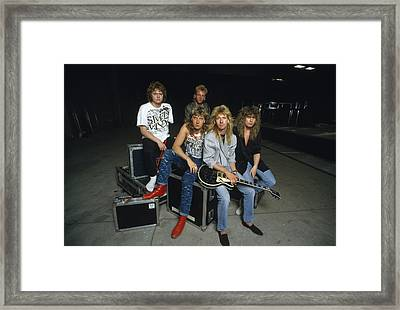 Def Leppard - Equipment & Gear 1987 Framed Print by Epic Rights
